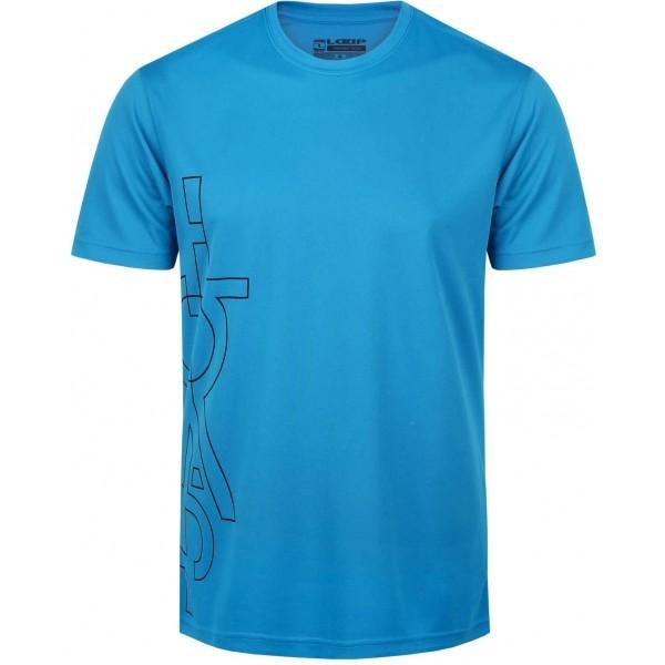 Loap MENOLI niebieski M - Koszulka termoaktywna męska
