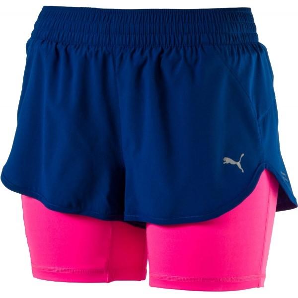 Puma BLAST 2IN1 3 SHORT W modrá M - Dámské běžecké šortky