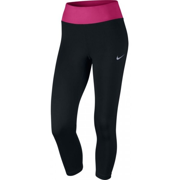Nike W NK PWR ESSNTL CROP DF fioletowy M - Legginsy do biegania damskie