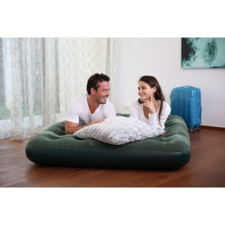 Nafukovací matrac - Bestway FLOCKED AIR BED GN