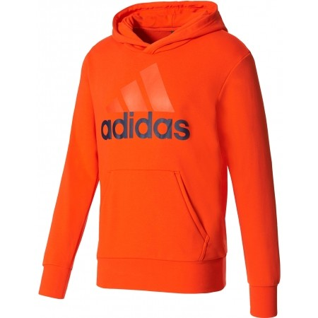 Pánska mikina s kapucňou - adidas ESSENTIALS LINEAR PULLOVER HOOD FRENCH  TERRY - 1 a69bd98364
