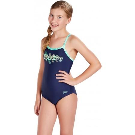 Dievčenské plavky - Speedo SPACE ROCK THINSTRAP MUSCLEBACK - 2