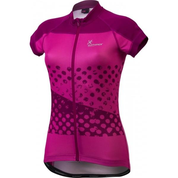 Klimatex JETTE różowy XL - Koszulka rowerowa z nadrukiem sublimacyjnym damska