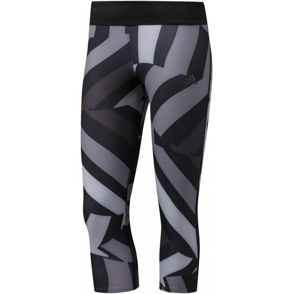 adidas RESPONSE 3/4 W szary S - Spodnie do biegania damskie