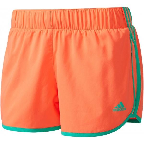 adidas SHORT 3S W pomarańczowy L - Spodenki do biegania damskie