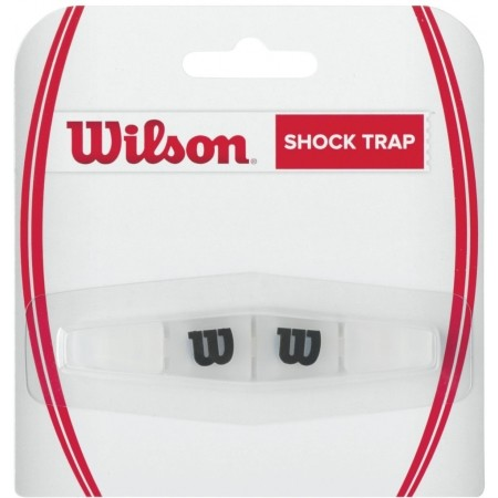 Wilson SHOCK TRAP CLEAR WITH BLACK W - Tenisový vibrastop