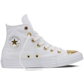 Converse CHUCK TAYLOR ALL STAR White/Gold - Dámské kotníkové tenisky