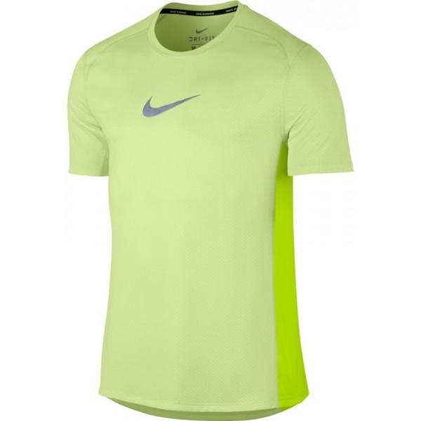 Nike NK BRTHE MILER TOP SS COOL M žlutá XXL - Pánské triko
