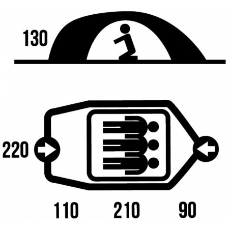 Zelt - Husky BIZON 3 CLASSIC - 5