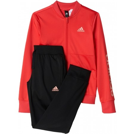 Спортен комплект за момичета - adidas TRACKSUIT POLYESTER - 1
