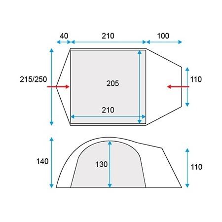 Палатка за къмпинг - Loap STARLITE 3 - 3