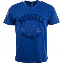 Russell Athletic S/S CREW NECK TEE WITH ROSETTE TWILL - Men's T-shirt