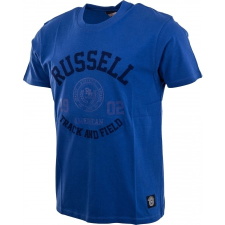 Мъжка тениска - Russell Athletic S/S CREW NECK TEE WITH ROSETTE TWILL - 2