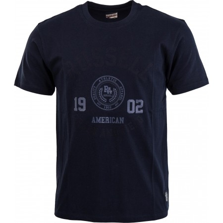 Мъжка тениска - Russell Athletic S/S CREW NECK TEE WITH ROSETTE TWILL - 4