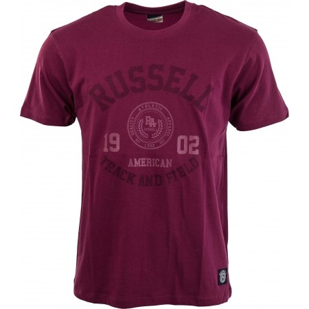 Мъжка тениска - Russell Athletic S/S CREW NECK TEE WITH ROSETTE TWILL - 7