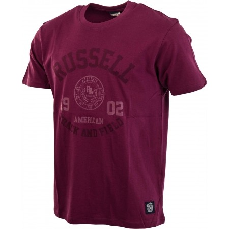Мъжка тениска - Russell Athletic S/S CREW NECK TEE WITH ROSETTE TWILL - 8