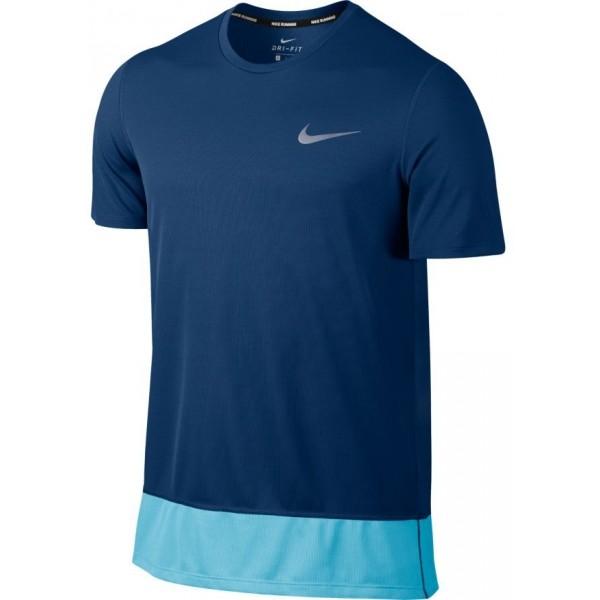Nike BRTHE RAPID TOP SS ciemnoniebieski S - Koszulka do biegania męska