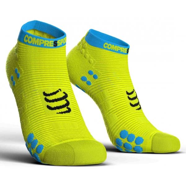 Compressport RACE V3.0 RUN LO žltá T2 - Bežecké ponožky
