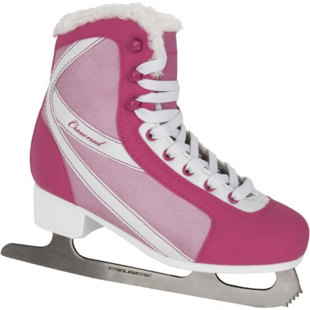 Girls' ice skates - Crowned FASHION JR