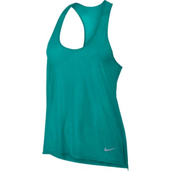 Nike BRTHE TANK COOL W ciemnozielony XS - Koszulka do biegania damska