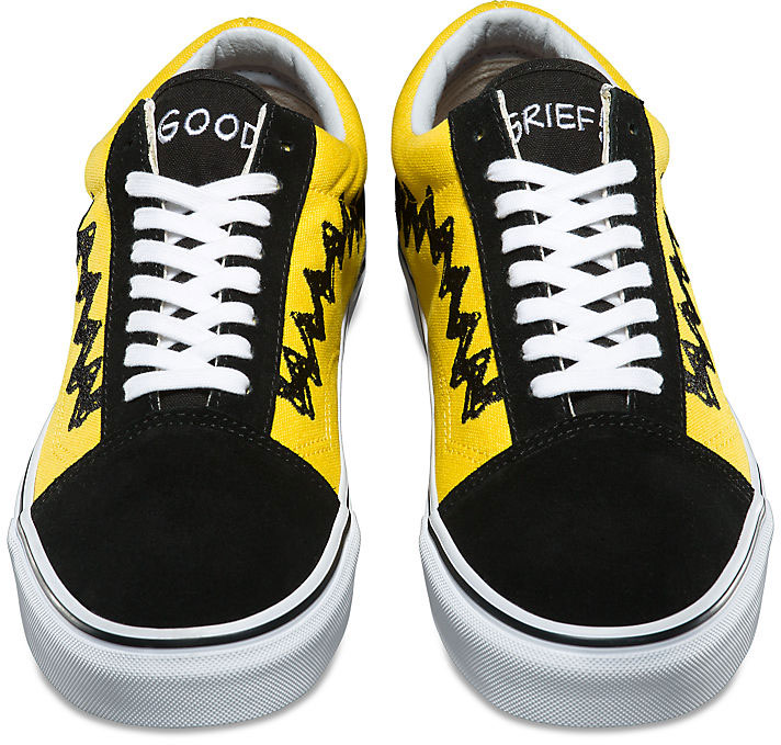 a85fb17f21 Vans UA OLD SKOOL (PEANUTS) CHARLIE BROWN Black