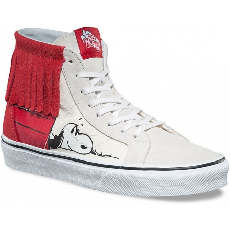 Vans UA SK8 HI MOC (PEANUTS) SNOOPY Bone Parade Red