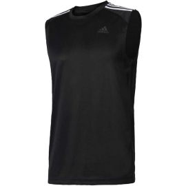 adidas DESIGN TO MOVE SLEEVELESS 3 STRIPES - Men's training tank top