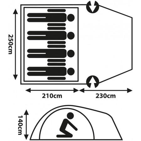 палатка - Crossroad EXMOOR 4 - 6