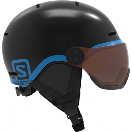 Salomon GROM VISOR - Kinder Skihelm