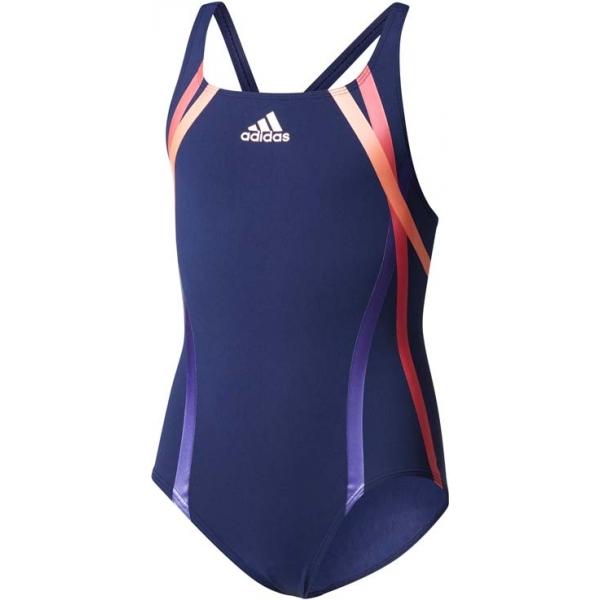 adidas REG SWIM INF+ tmavo modrá 128 - Dievčenské plavky