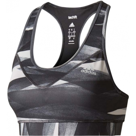 8085f357744ad Women s sports bra - adidas TECHFIT BASE BRA PRINT - 1