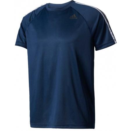 Pánské tréninkové tričko - adidas DESIGN TO MOVE TEE3 STRIPES - 1