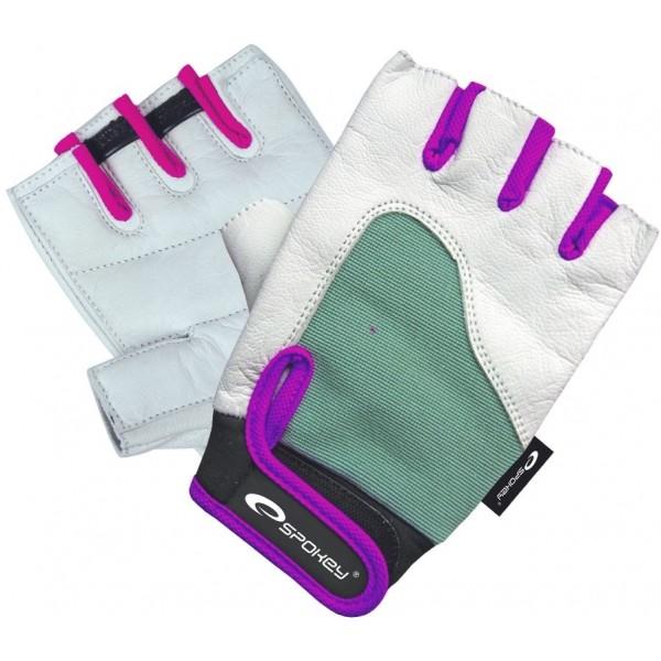 Spokey ZOLIA bílá M - Dámské fitness rukavice