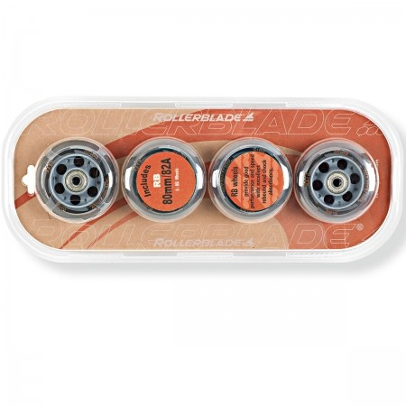 WHEELS PACK 80-82A+SG7 - Set of spare in-line wheels - Rollerblade WHEELS PACK 80-82A+SG7