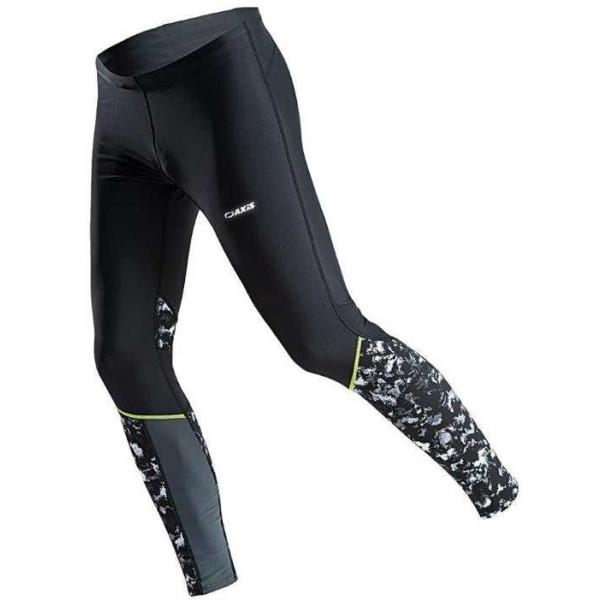 Axis RUN M PRINT czarny 50 - Spodnie do biegania męskie