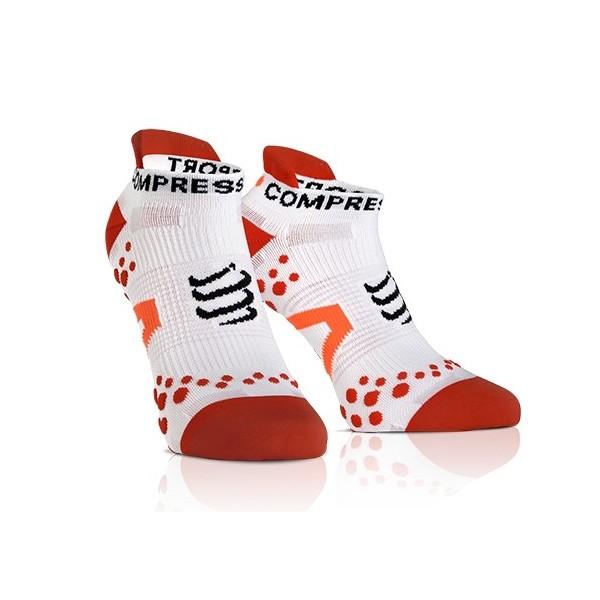 Compressport RUN LO červená T2 - Kompresné ponožky