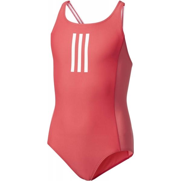 adidas BACK TO SCHOOL SUIT červená 128 - Dievčenské jednodielne plavky
