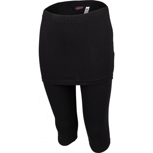 Lewro GALINA 140 - 170 czarny 164-170 - Spódnica ze spodniami 3/4 dziewczęca