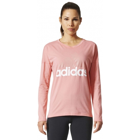 Women's T-shirt - adidas ESSENTIALS LINEAR LONGSLEEVE - 3