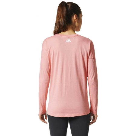 Women's T-shirt - adidas ESSENTIALS LINEAR LONGSLEEVE - 4