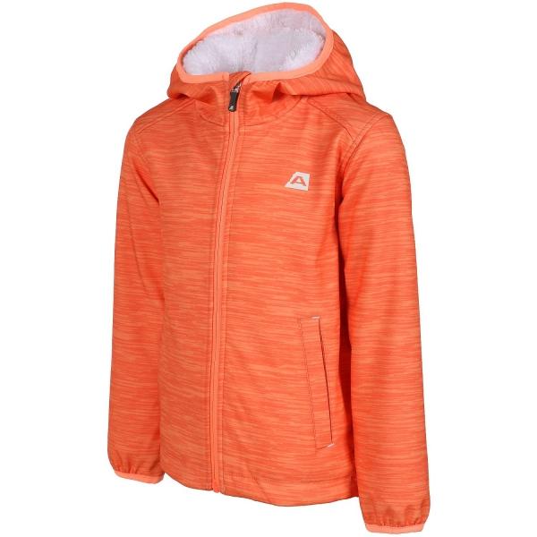 ALPINE PRO HAMRO narancssárga 140-146 - Gyerek kabát