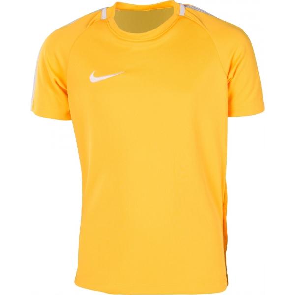 Nike Y NK DRY ACDMY TOP SS żółty S - Koszulka sportowa chłopięca