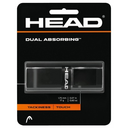 Dual Absorbing black - Лента за тенис ракета - Head Dual Absorbing black
