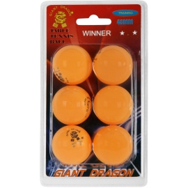 Giant Dragon ORG PI PO MICKY 6PCS - Table tennis balls