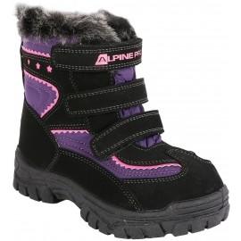 ALPINE PRO TIMBER - Dětská zimní obuv