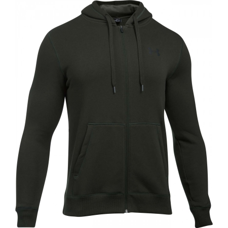 Pánska mikina - Under Armour RIVAL FITTED FULL ZIP - 1