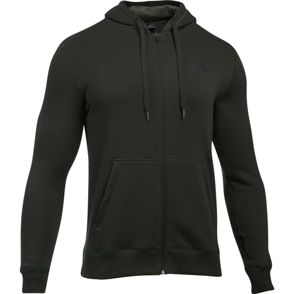 Under Armour RIVAL FITTED FULL ZIP sötétzöld M - Férfi pulóver