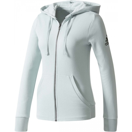 adidas Damen Essentials Solid Full Zip Hoodie