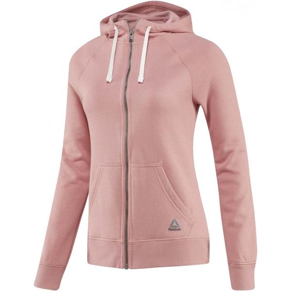 Reebok EL FL FULL ZIP rózsaszín M - Női pulóver