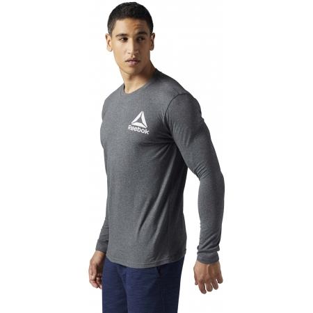 Men's T-shirt - Reebok LONG SLEEVE TEE 2 - 3